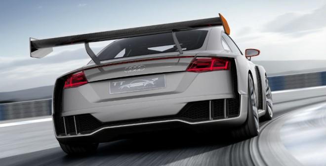 El Audi TT Clubsport Turbo cuenta con un alerón de grandes dimensiones.