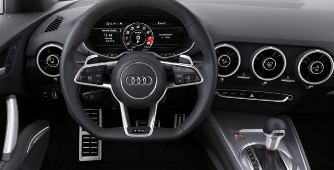 El interior del Audi TT S-Line Edition también dispone de algunos elementos de equipamiento extra.