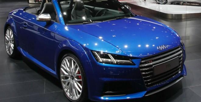 El Audi TT descapotable es otro de los protagonistas de la marca alemana en el Salón de Barcelona.