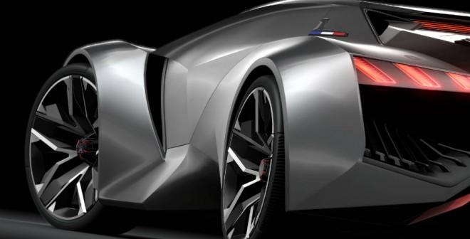 El Peugeot Vision Gran Turismo tiene una altura que supera por poco el metro.