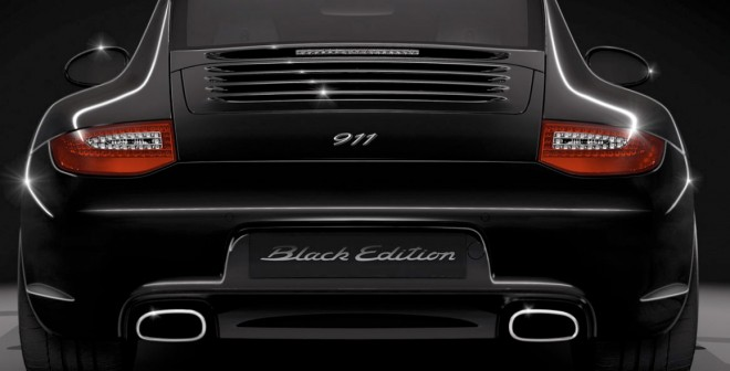 El Porsche 911 Black Edition está disponible en versiones coupé y cabrio.
