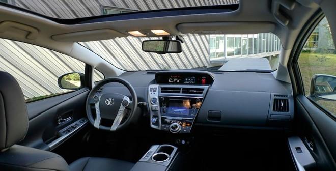 Prueba Toyota Prius+ 2015, interior, Rubén Fidalgo