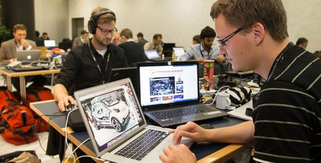 Trabajo duro para los periodistas en Frankfurt