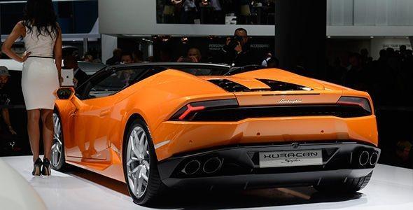 Lamborghini Huracan LP610-4 Spyder en Frankfurt 2015