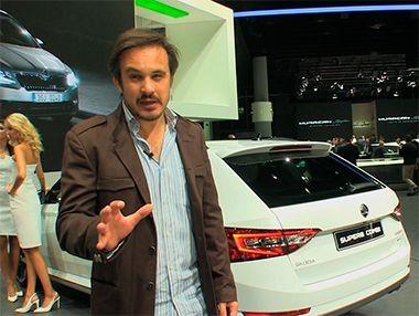 Presentación del Skoda Superb Combi en Frankfurt 2015