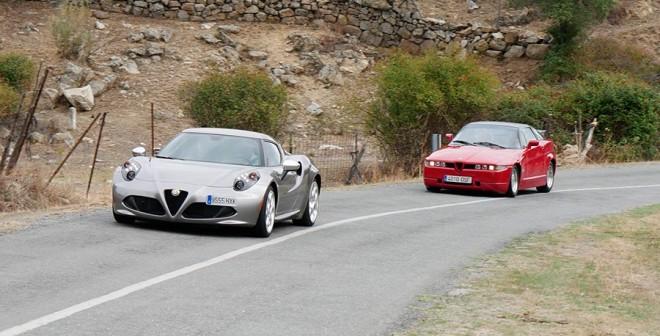 Prueba Alfa Romeo 4C vs Alfa Romeo SZ, Robledo de Chavela, Rubén Fidalgo