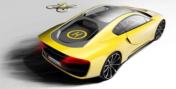 Rinspeed Etos: autónomo, híbrido y con dron incorporado