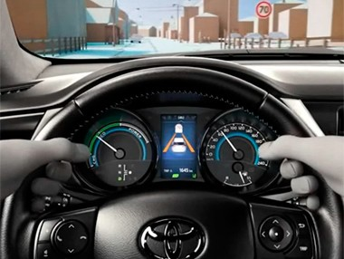 Toyota Safety Sense: asistencia de señales de tráfico