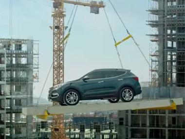 Vídeo: Hyundai Santa Fe esquivando obstáculos