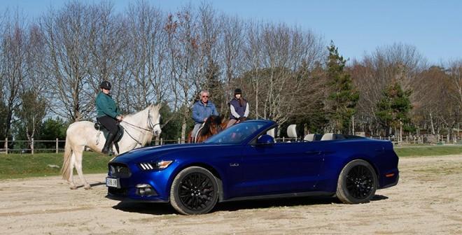 Prueba Ford Mustang GT V8 5.0 Cabrio 2015, Baiona, Rubén Fidalgo