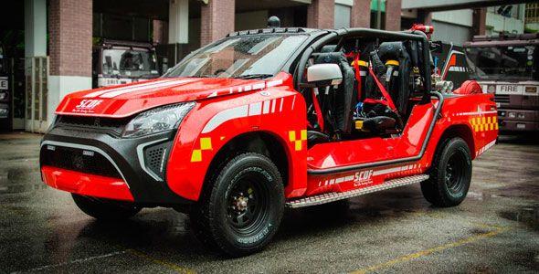 Red Rhino LF5G, el coche de bomberos capaz de llegar donde otros no pueden