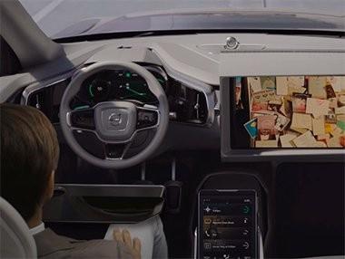 El nuevo interfaz de Volvo para coches autónomos en vídeo