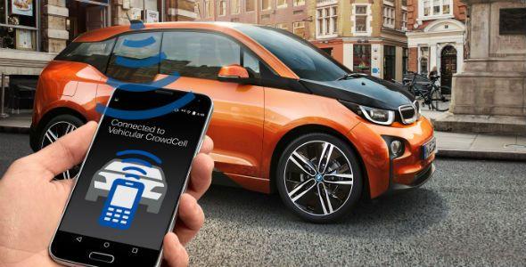 """BMW presenta la tecnología 'Vehicular CrowdCell"""" en el MWC"""