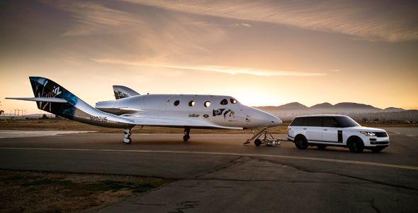 SpaceShipTwo, la nave espacial que ha presentado Land Rover