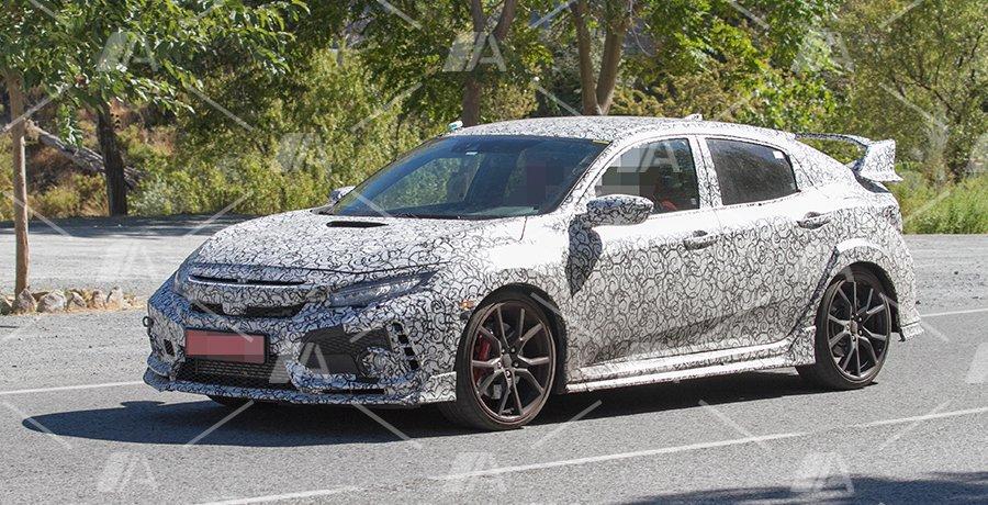 Nuevas fotos espía del futuro Honda Civic Type R