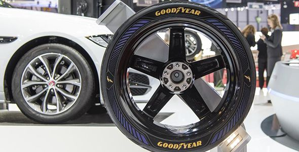 Goodyear presenta en el Salón de Ginebra sus neumáticos IntellGrip, preparados para el coche autónomo