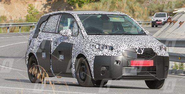 Fotos espía del nuevo Peugeot 2008, Citroën C3 y Opel Meriva