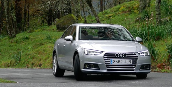 Prueba nuevo Audi A4 2.0 TDi 190 CV 2016 curva