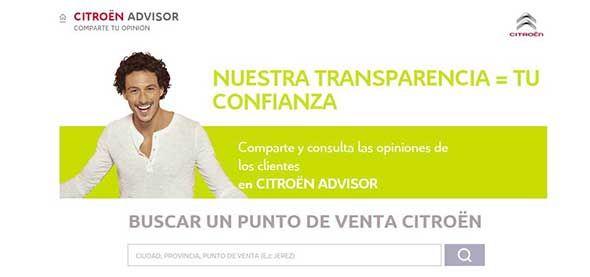 Citroën Advisor: una web de opiniones sobre concesionarios y talleres