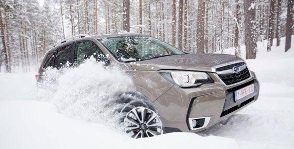 Así se comportan los modelos de Subaru sobre la nieve