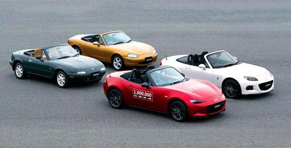 La producción del Mazda MX-5 alcanza el millón de unidades