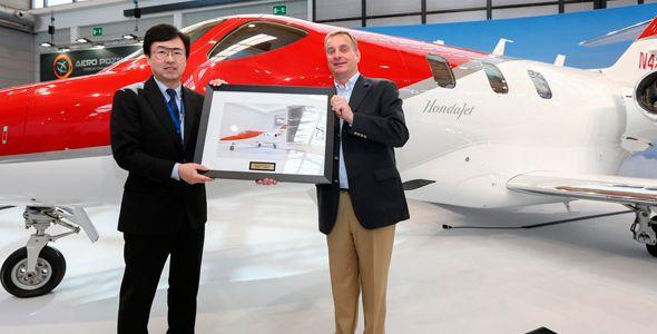 El primer HondaJet, ya en Europa