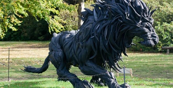 Qué pasa con los neumáticos reciclados escultura