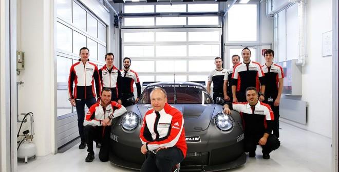 El Porsche 911 GTE 2017 en fase de pruebas