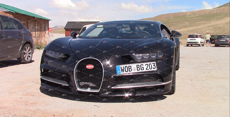 Vídeo espía del Bugatti Chiron 2017