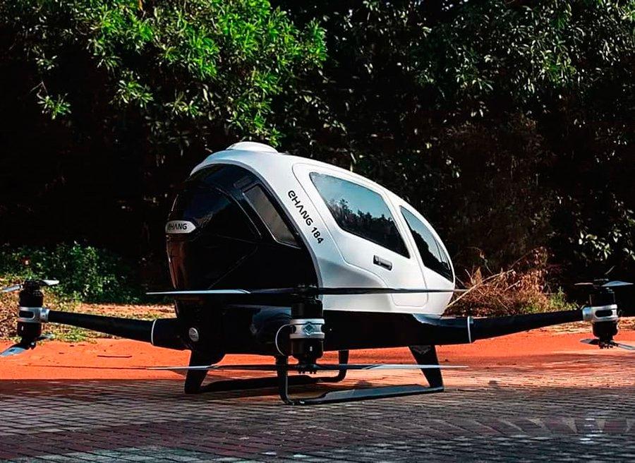 El Ehang 184 podría ser el primer drone taxi