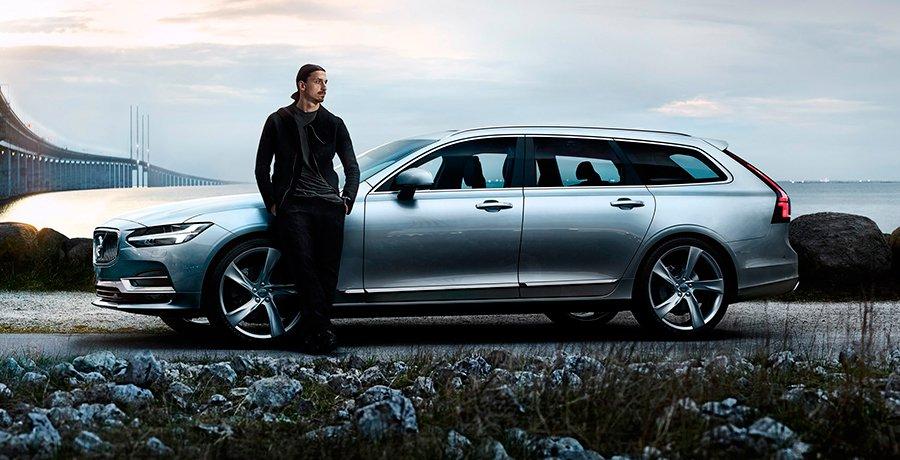 El Volvo V90 e Ibrahimovic en un vídeo de despedida