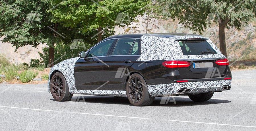 Nuevas fotos espía del nuevo Mercedes E63 AMG Estate y berlina