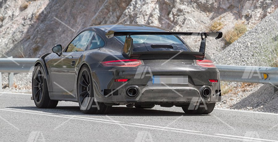 Fotos espía del Porsche 911 GT2 RS 2017