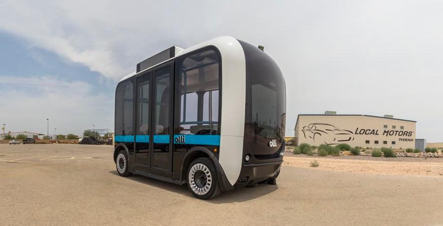 Olli, el autobús autónomo y eléctrico que charla con los pasajeros