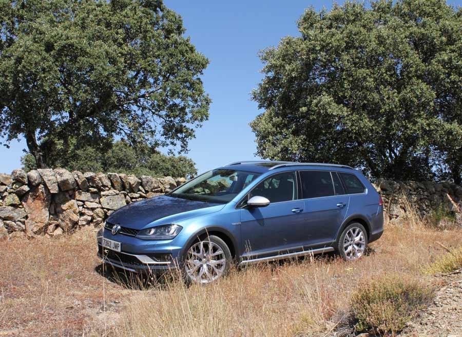 Los elementos estéticos del VW Golf Alltrack cumplen una función protectora.