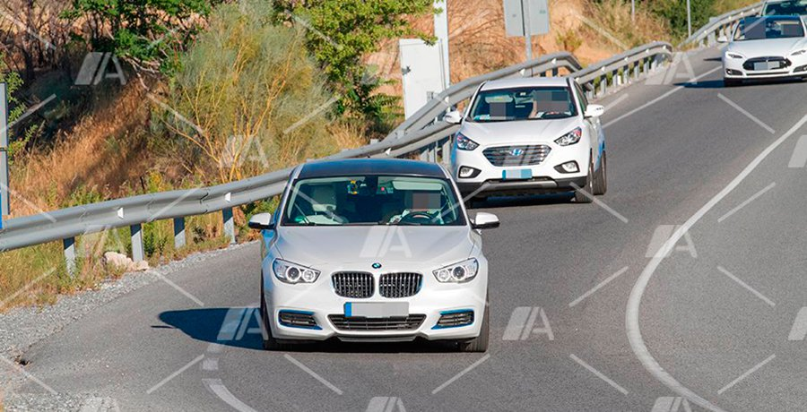 Fotos espía de la mula del futuro BMW i5