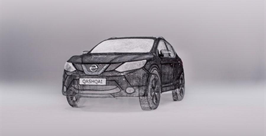 ¿Te imaginas un Nissan Qashqai a tamaño real y en 3D?