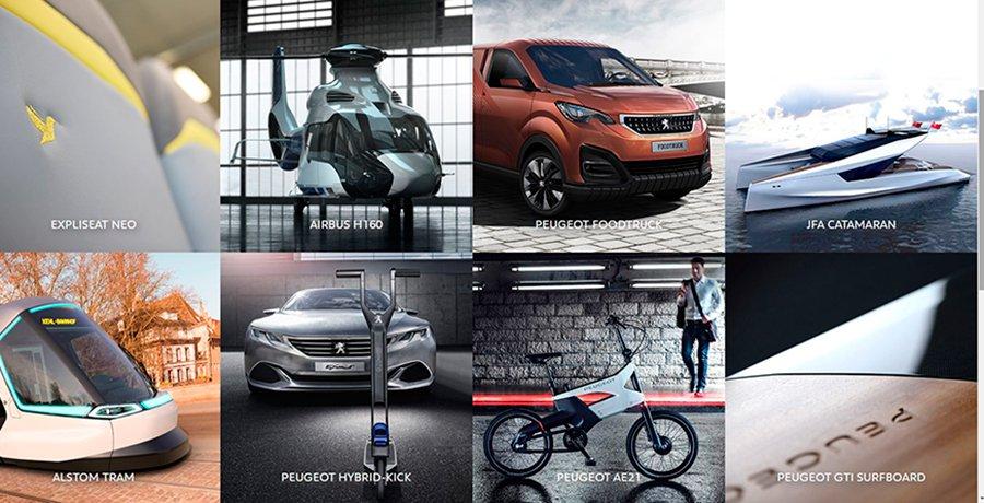 Nueva web e Instagram de Peugeot Design Lab