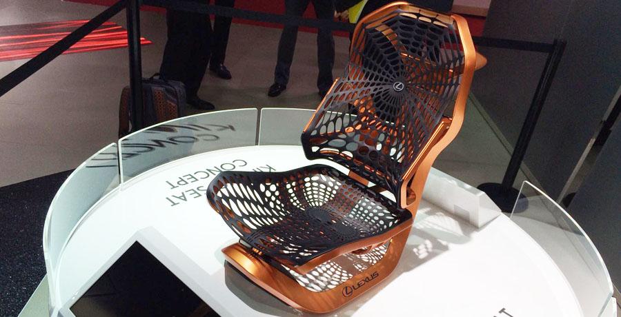 Los revolucionarios asientos Lexus Kinetic Seat Concept en París 2016