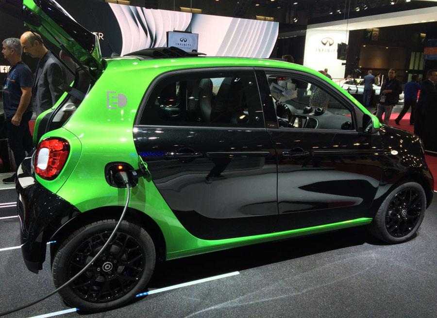 El nuevo Smart Electric Drive en el Salón de París 2016