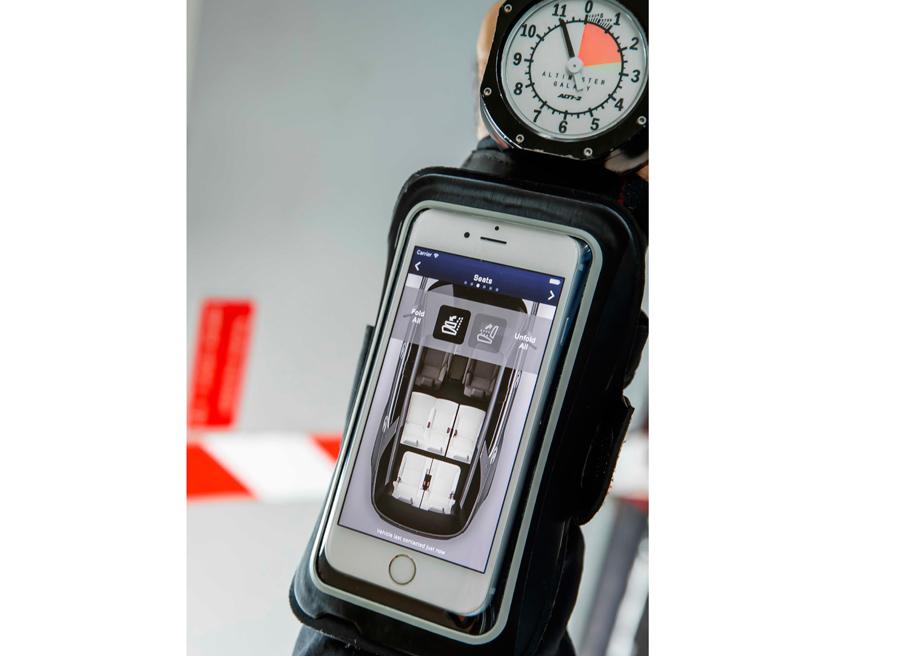 La aplicación para smartphones permite modificar muchos aspectos del Land Rover Discovery.