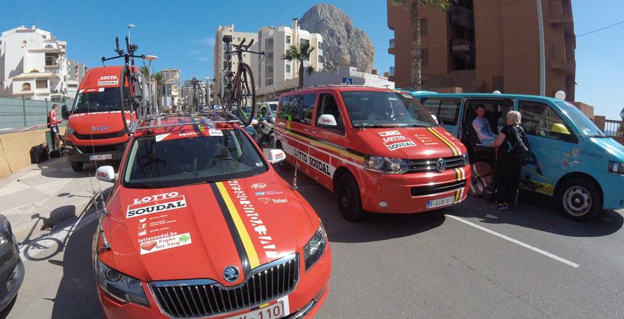 Con Skoda, en la Vuelta Ciclista a España