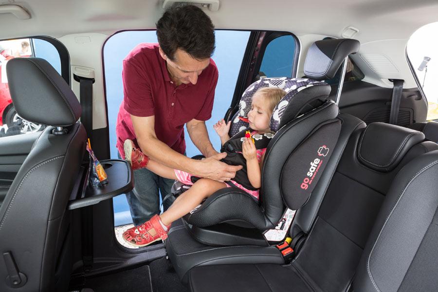 El 56% de conductores viaja con niños en alguna ocasión.