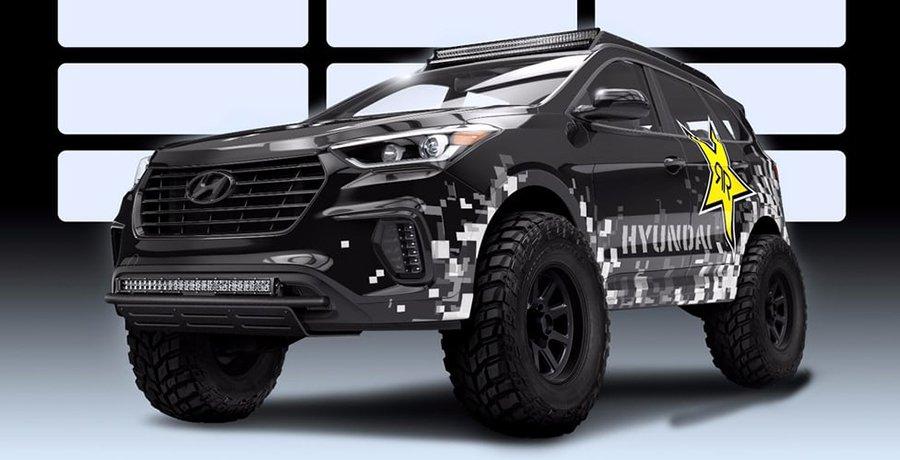 Hyundai Santa Fe Rockstar Performance Garage para SEMA 2016