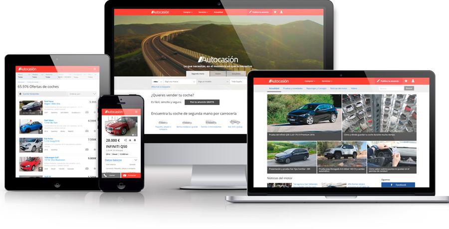 100% responsive: la nueva web de Autocasión se adapta a cualquier tipo de dispositivo.