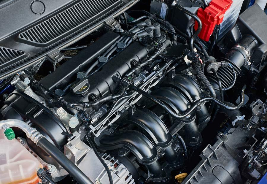 El motor del nuevo Ford Ka+, con 1.2 litros de cilindrada, es muy silencioso.