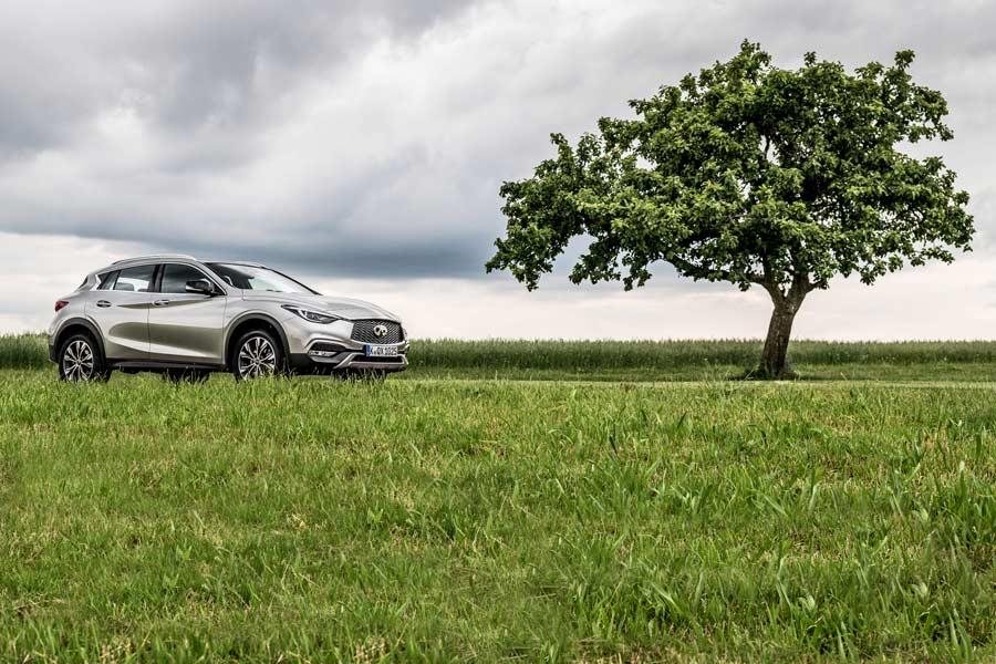 El Infiniti QX30 esta contruido sobre la plataforma del Mercedes GLA.