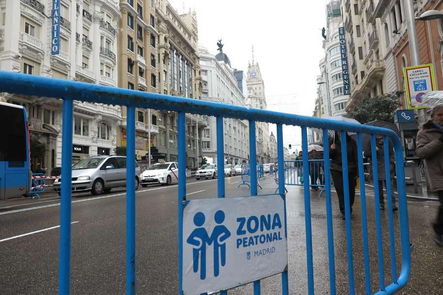 Cortes de tráfico en Madrid por Navidad durante todo diciembre