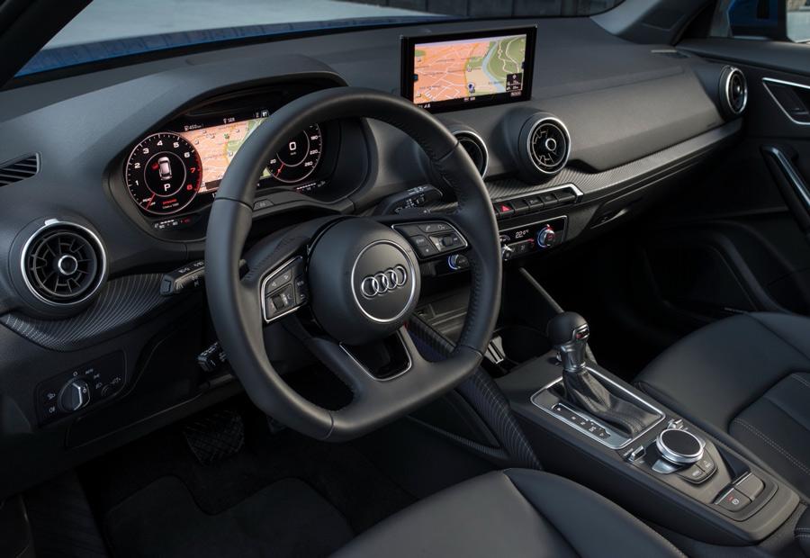 El interior del nuevo Audi Q2 está muy bien realizado, la calidad es elevadísima.