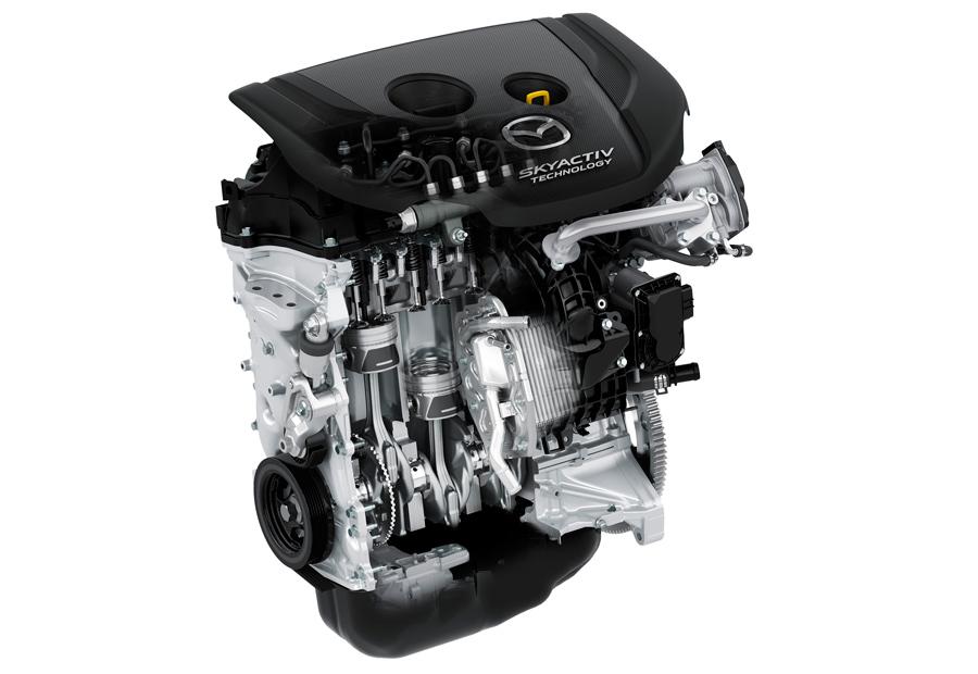 El motor diesel de 105 CV llega procedente de, por ejemplo, el Mazda 2.